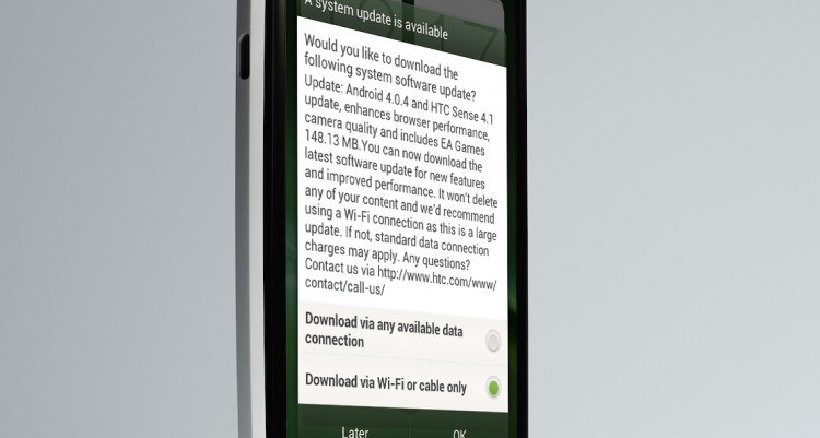 HTC One X updated with Google Android 4.0.4 and HTC Sense 4.1