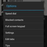 New Full screen keypad option