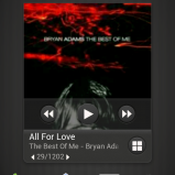 New music lock screen in current song view