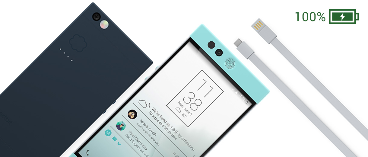 NextBit Robin and its USB charging cable